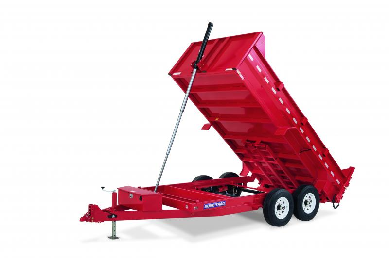 Sure-Trac 7X14 TELESCOPIC 16K Dump Trailer