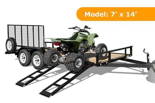 7 X 16 Dual Axle ATV Trailer