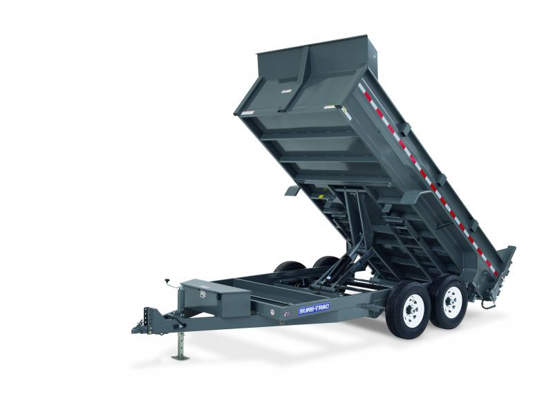 Sure-Trac 7X16 SCISSOR LIFT 16K Dump Trailer
