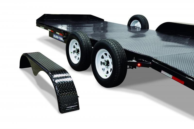 Sure-Trac 7X18 STEEL DECK 10K Car / Racing Trailer