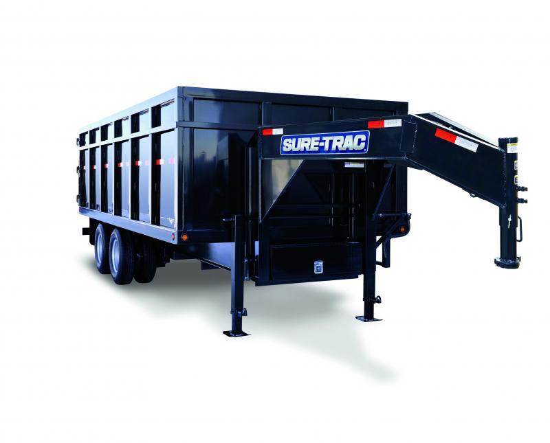 2020 Sure-Trac 8.5x20 GOOSENECK DUAL TANDEM 4'SIDES 25.9K Dump Trailer