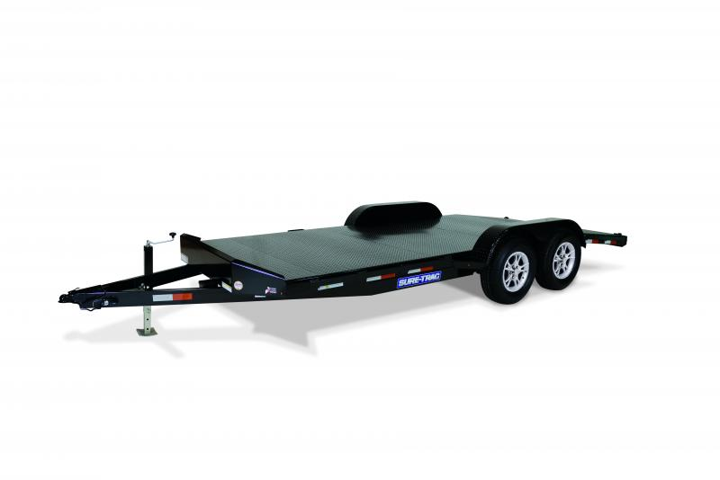Sure-Trac 7 x 18 Steel Deck Car / Racing Trailer
