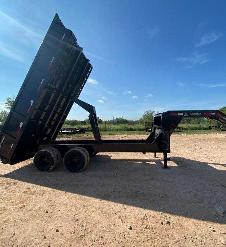 2022 RawMaxx 16' 20K Gooseneck Dump Trailer