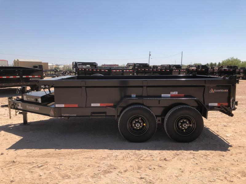 2022 RawMaxx 12' 14K Bumper Pull Dump Trailer