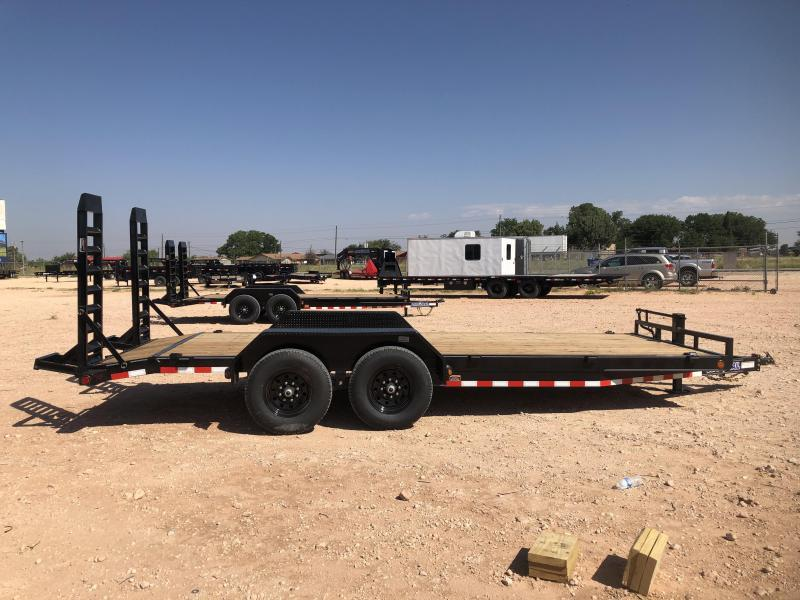 2020 Load Trail 20' 14K Skidster w/ Stand Up Ramps Trailer