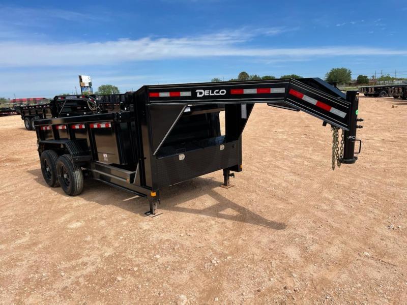 2021 Delco Trailers 12' 14K Gooseneck Dump Trailer