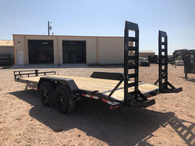 2020 Load Trail 22' 14K Skidster w/ Stand Up Ramps Trailer