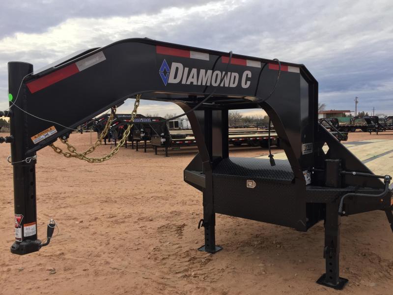 2020 Diamond C Trailers 38' Gooseneck HotShot w/8' Slide In Ramps