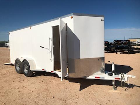 2020 Delco 6.8x18 HD Steel Cargo Trailer w/ Ramp Door