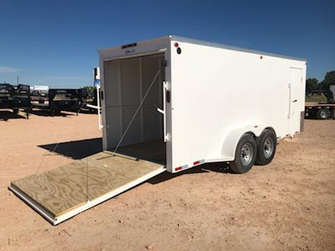 2021 Delco 6.8x16 HD Steel Cargo Trailer w/ Ramp Door
