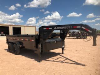 2020 Iron Bull 14' Gooseneck Dump Trailer