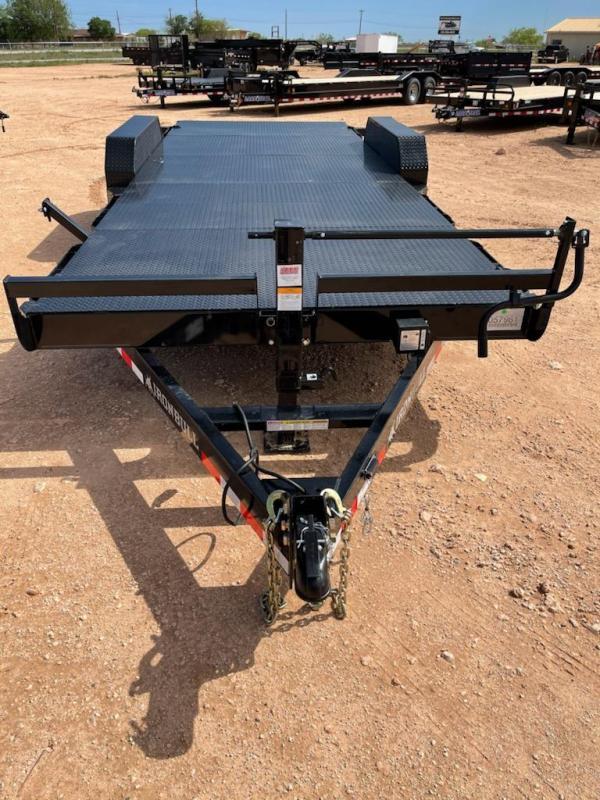 2021 Iron Bull 20' 14000 GVW Steel Deck Carhauler
