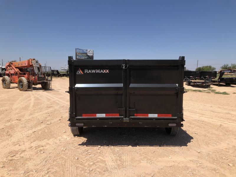 2020 RawMaxx 12' 14K Gooseneck Dump Trailer w/ 4' Sides