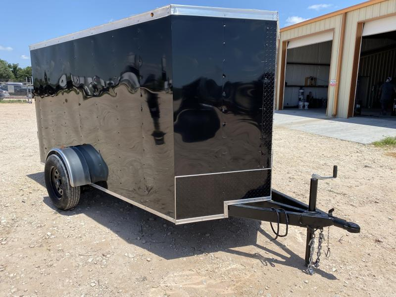 2022 Salvation  5x10 Black Vnose Cargo Trailer