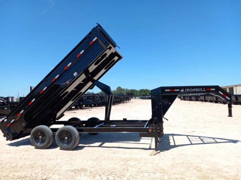 2022 Iron Bull 16' 14K Gooseneck Dump Trailer