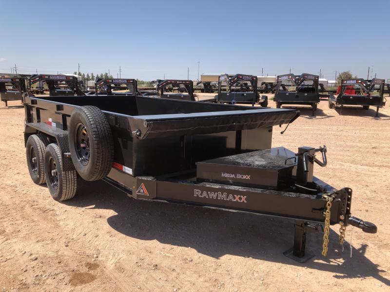 2020 RawMaxx 12' 14K Bumper Pull Dump Trailer