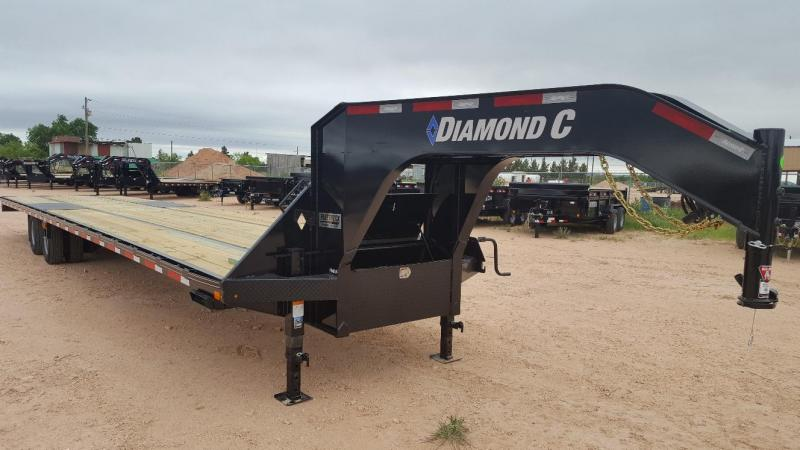 2020 Diamond C Trailers 40' Gooseneck HotShot w/8' Slide In Ramps