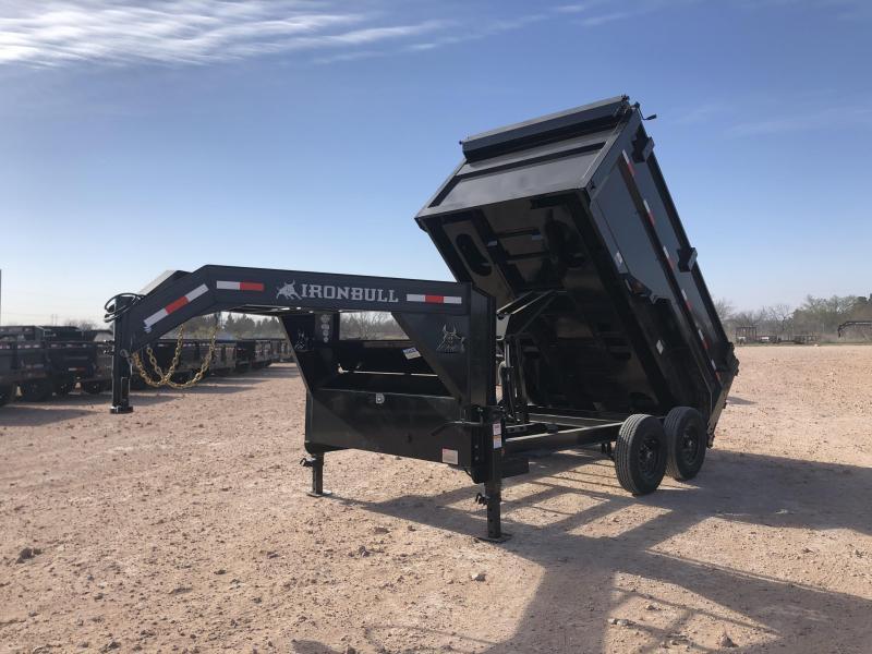 2022 Iron Bull 12' Gooseneck Dump Trailer w/ 4' Sides