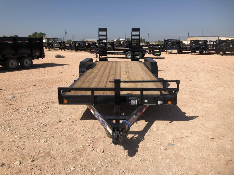 2021 Load Trail 18' 14K Skidster w/ Stand Up Ramps Trailer