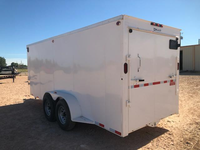 2021 Delco 6.8x18 HD Steel Cargo Trailer w/ Ramp Door