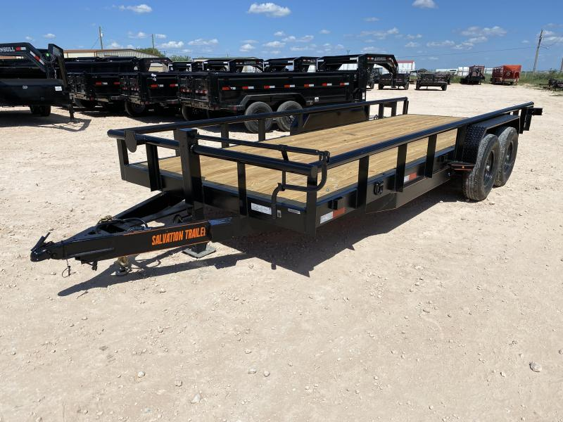 2022 Salvation 20' 14K Pipe Top Utility Trailer