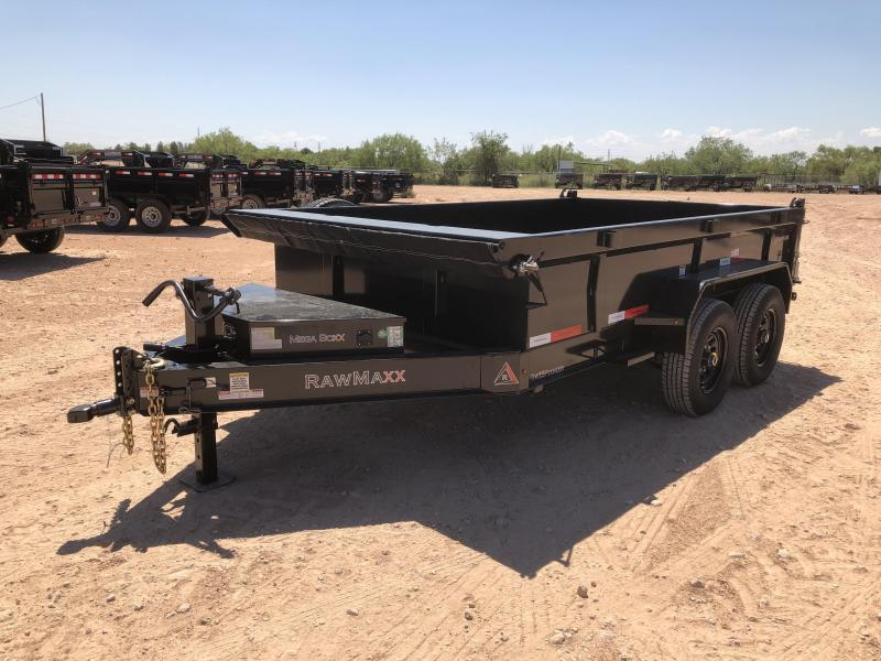 2021 RawMaxx 12' 14K Bumper Pull Dump Trailer