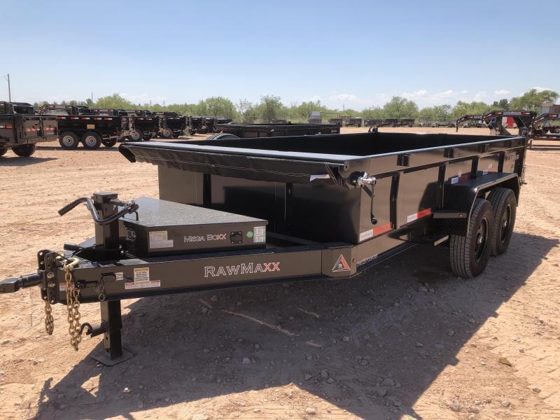 "2021 RawMaxx 14"" 14K Bumper Pull Dump Trailer"
