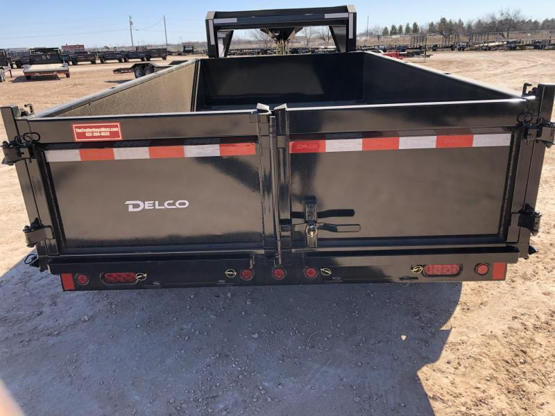 2021 Delco Trailers 14' 14K Gooseneck Dump Trailer