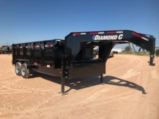 2020 Diamond C Trailers 16' 20K Gooseneck Dump Trailer
