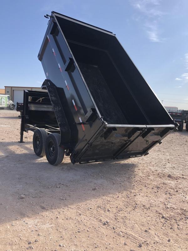 2021 Iron Bull 12' Gooseneck Dump Trailer w/ 4' Sides