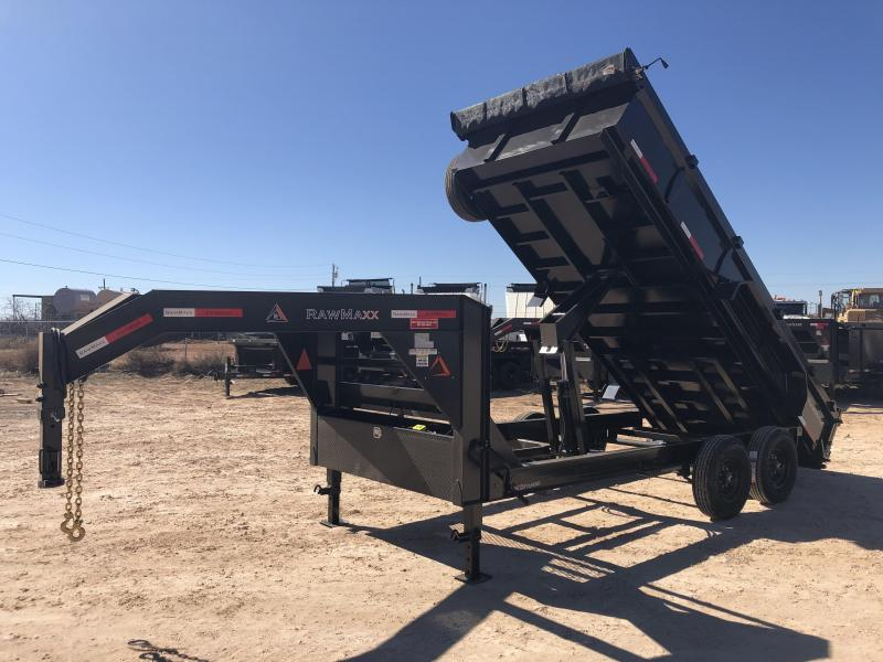 2020 RawMaxx 16' 14K Gooseneck Dump Trailer