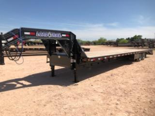 2021 Load Trail 40' Gooseneck Air Ride Lift Axles Max Ramps
