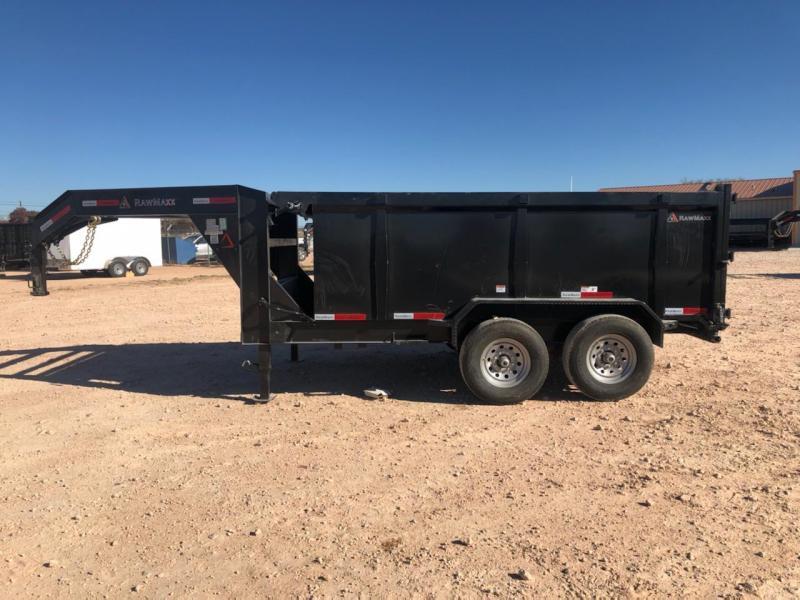 2020 RawMaxx 14' 14K Gooseneck Dump Trailer w/ 4' Sides