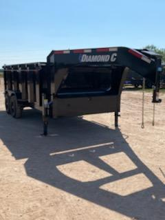 "2021 Diamond C 14' Gooseneck Dump w/ 44"" Sides"