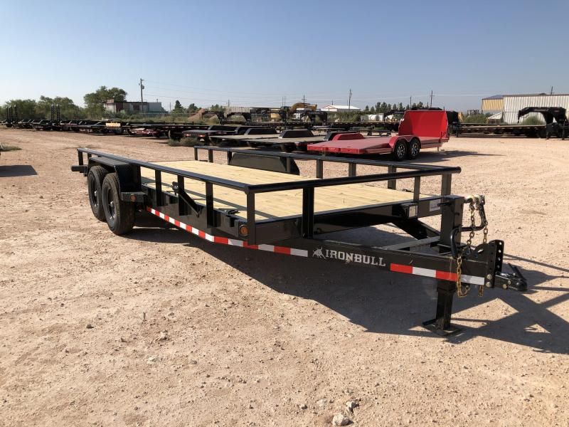 2021 Iron Bull 14K 20' Pipe Top Utility Trailer