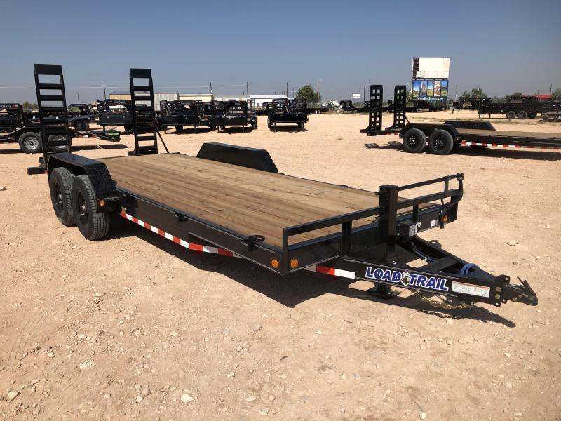 2021 Load Trail 22' 14K Skidster w/ Stand Up Ramps Trailer