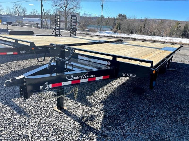 2021 Quality Trailers 20' Pro Deckover Flatbed Trailer