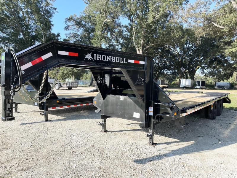 2022 Iron Bull 102x25 deck over gooseneck Equipment Trailer