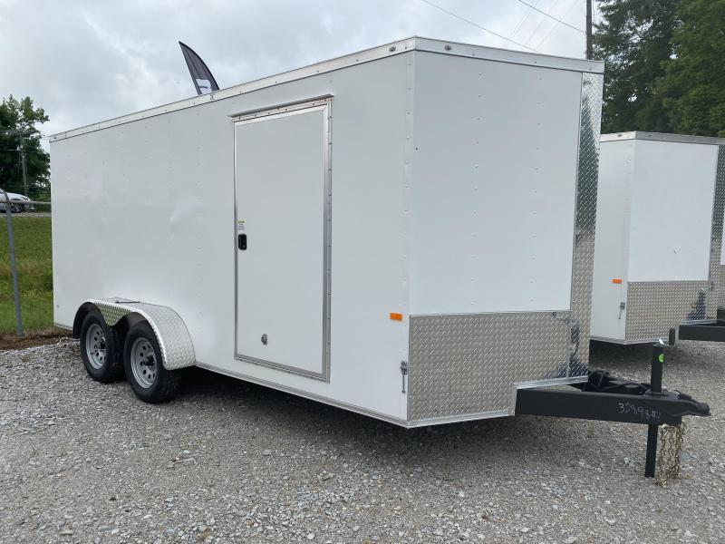 2021 Rock Solid Cargo 7X16 W/ UPGRADED ALUM .030 Enclosed Cargo Trailer