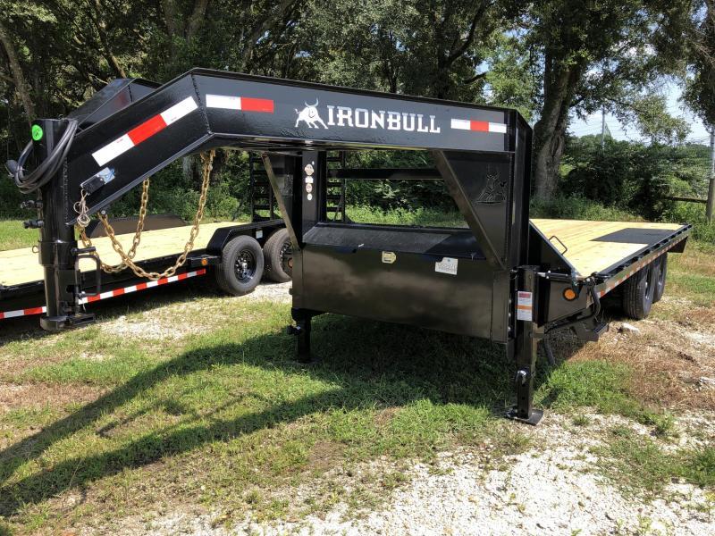 2021 Iron Bull 102X20 Gooseneck Deckover Equipment Trailer