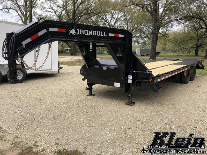 2021 Iron Bull 102X25 Gooseneck Deckover Equipment Trailer