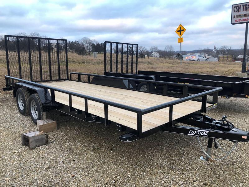 2021 Fox Trail 84x18 Tandem Axle Utility