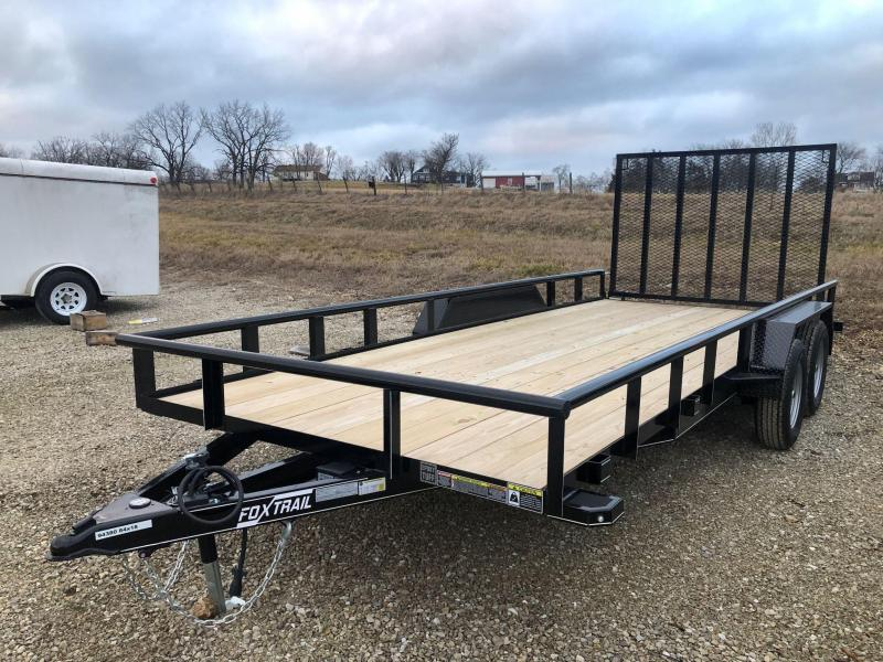2021 Fox Trail 84x18 Tandem Axle Utility