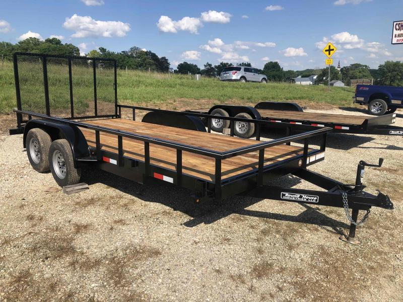 2021 Round House Industries 77x16 Tandem Axle Utility