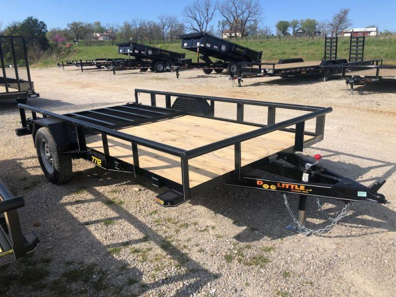 2021 Doolittle Trailers 77x12 Single Axle Utility