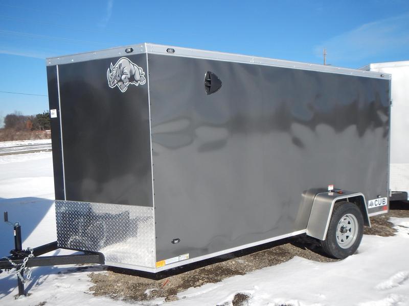 2021 Rhino Trailers CUB SA 6' X 12' Enclosed Cargo Trailer
