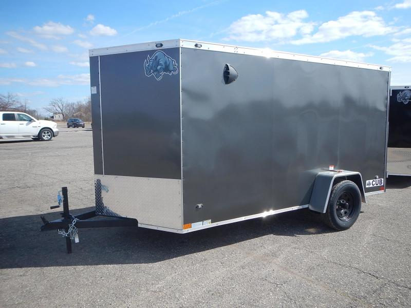 2021 Rhino Trailers CUB 6 X 12 SA Enclosed Cargo Trailer