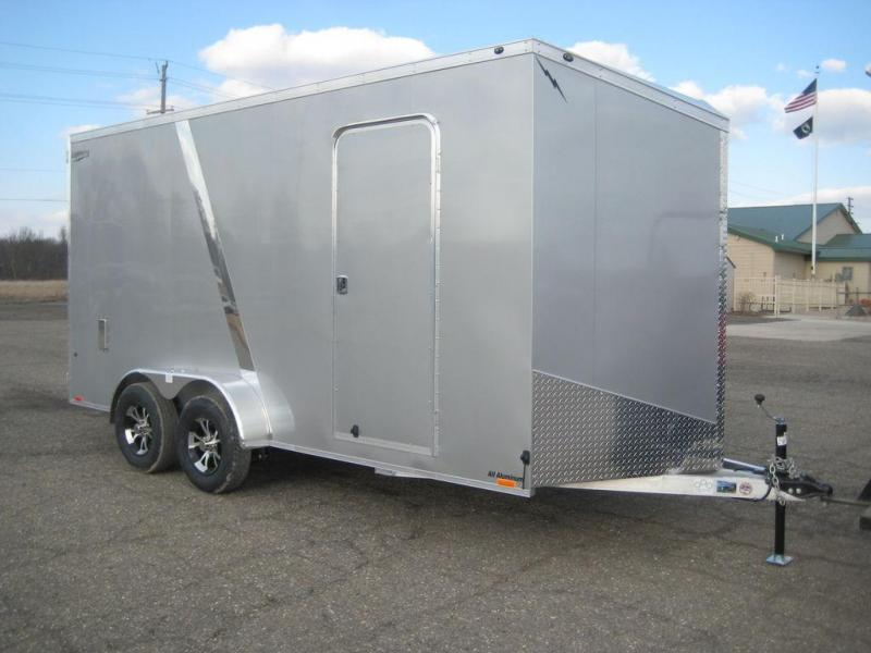 2020 Lightning Trailers 7' Wide Flat Top LTF716TA Enclosed Cargo Trailer