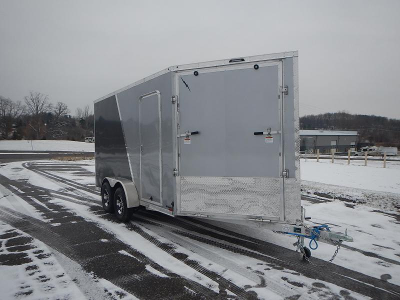 2021 Lightning Trailers LTFES714TA2 Snowmobile Trailer