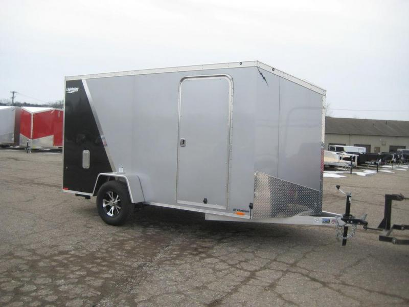 2020 Lightning Trailers 6' Wide Flat Top LTF612SA Enclosed Cargo Trailer